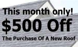 new roof discount coupons